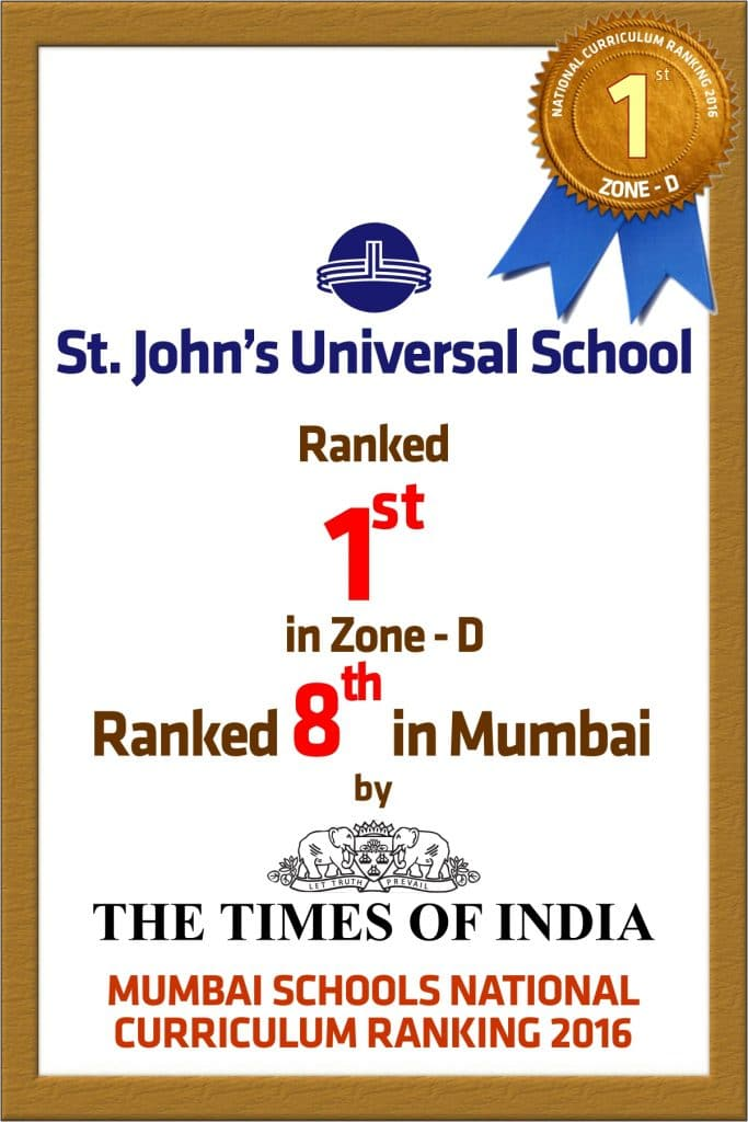 Times of India School Ranking – 2016