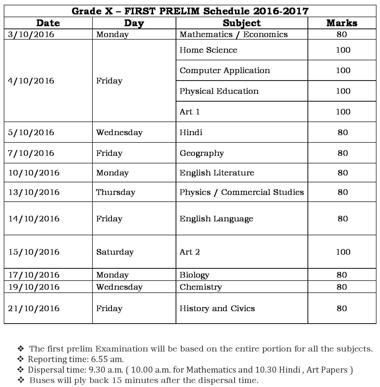 grade-x-first-prelim-schedule-2016-17
