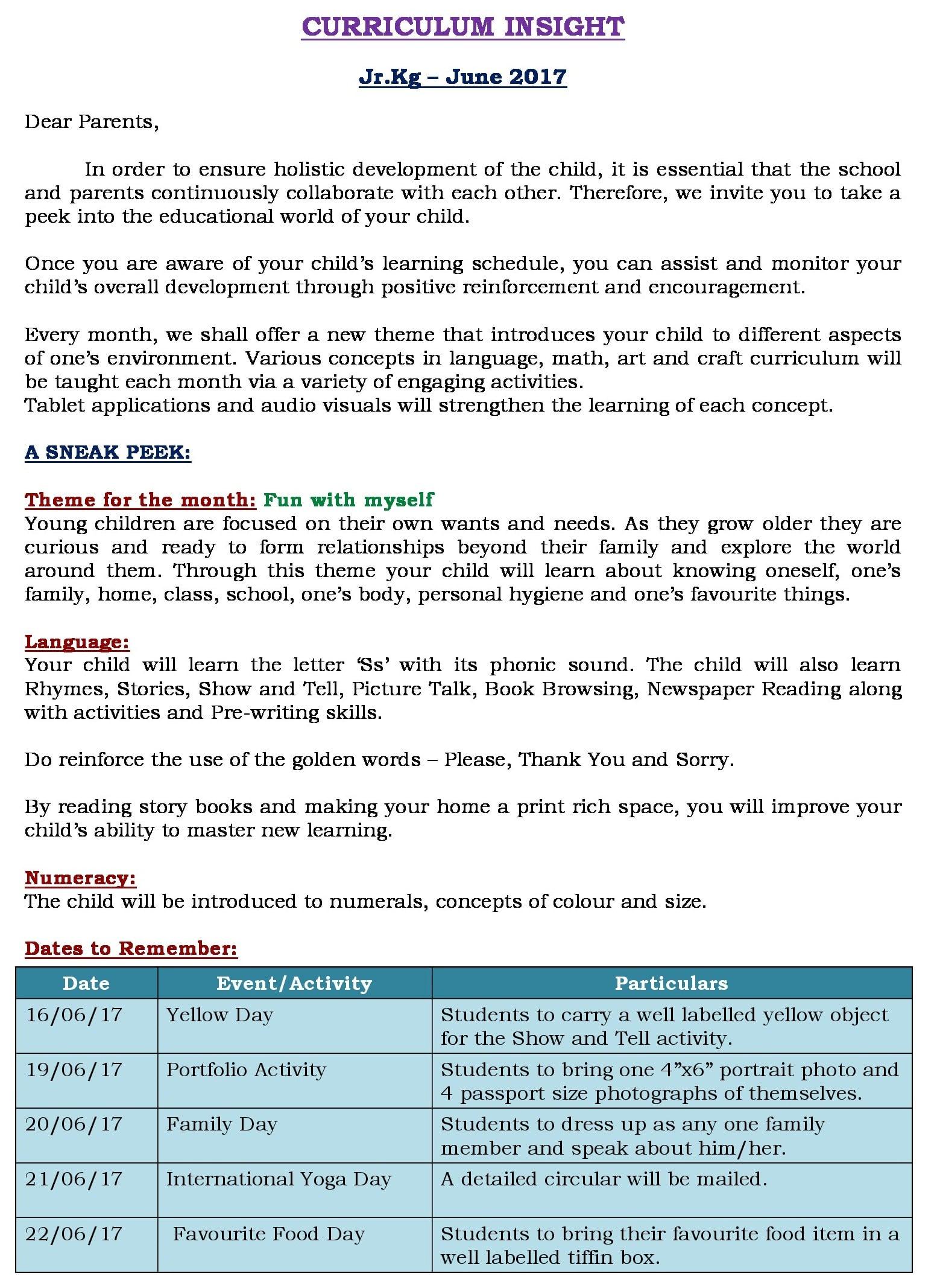 Curriculum Insight- June'17