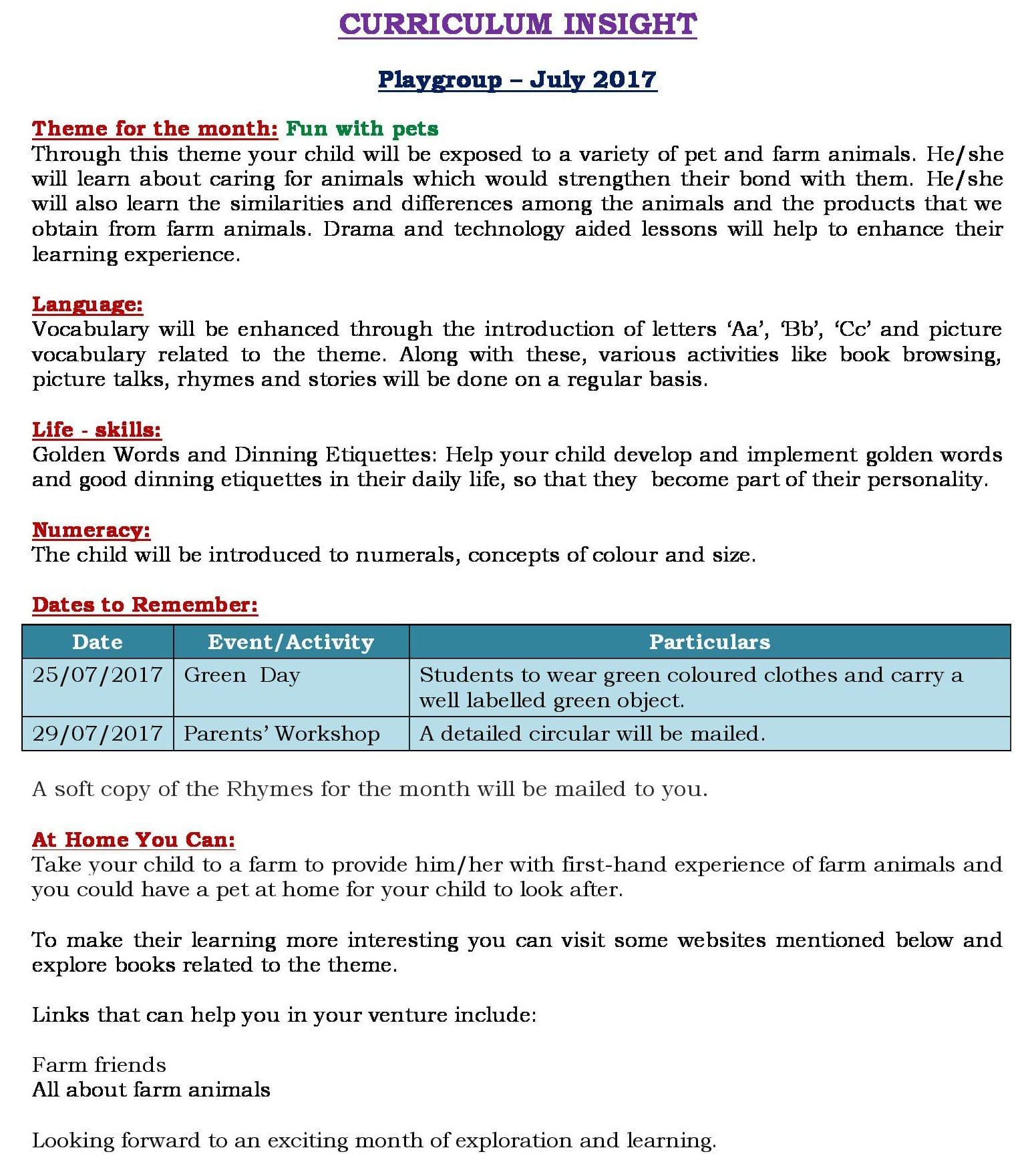 Unit 2 Curriculum Insight 2017-18