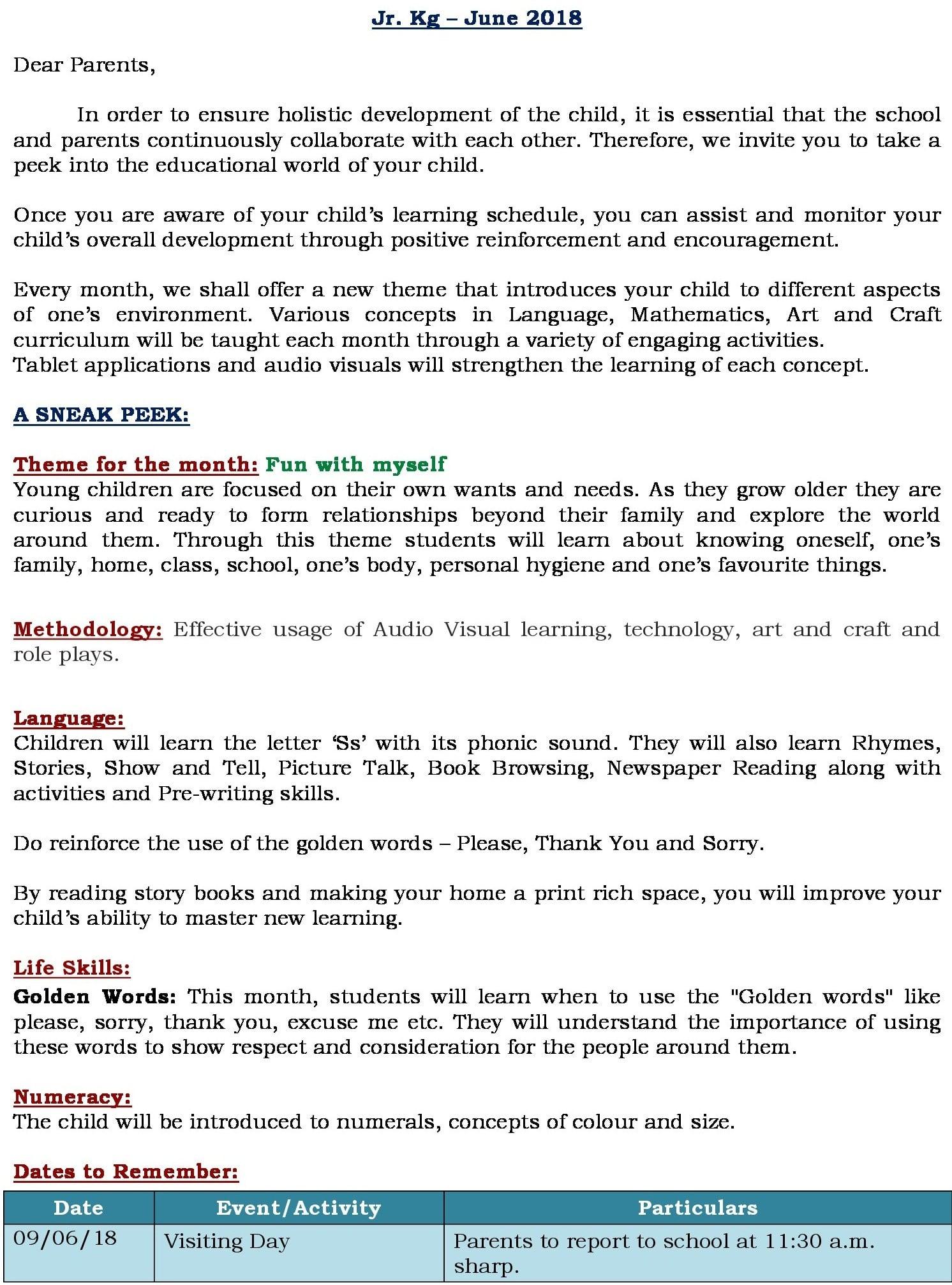 UB June Curriculum Insight